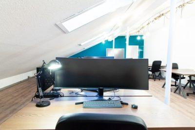 Widescreens im Coworking Hub Luzern